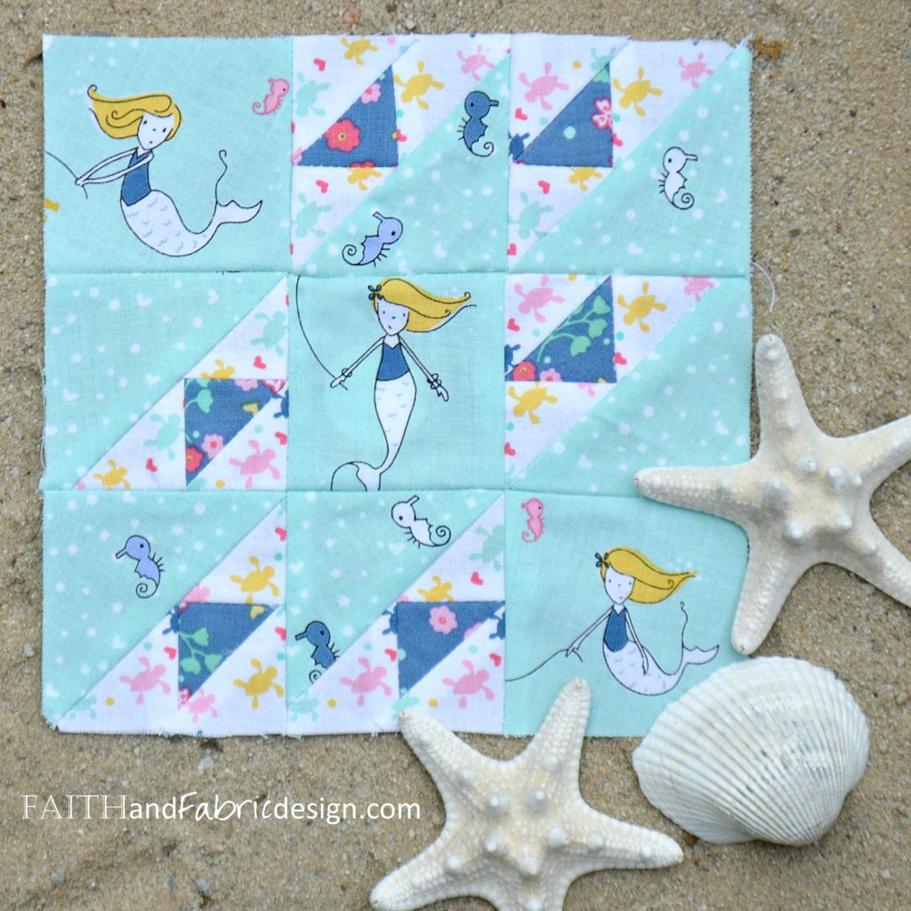 Under the Sea Quilt Block by Faith and Fabric
