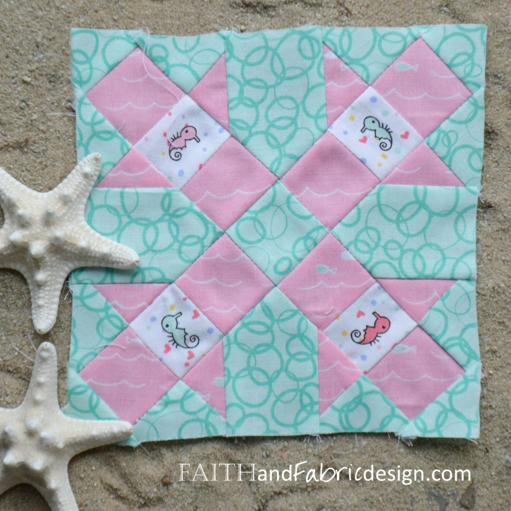 Under the Sea Farmer's Wife Block 42 Heather by Faith and Fabric