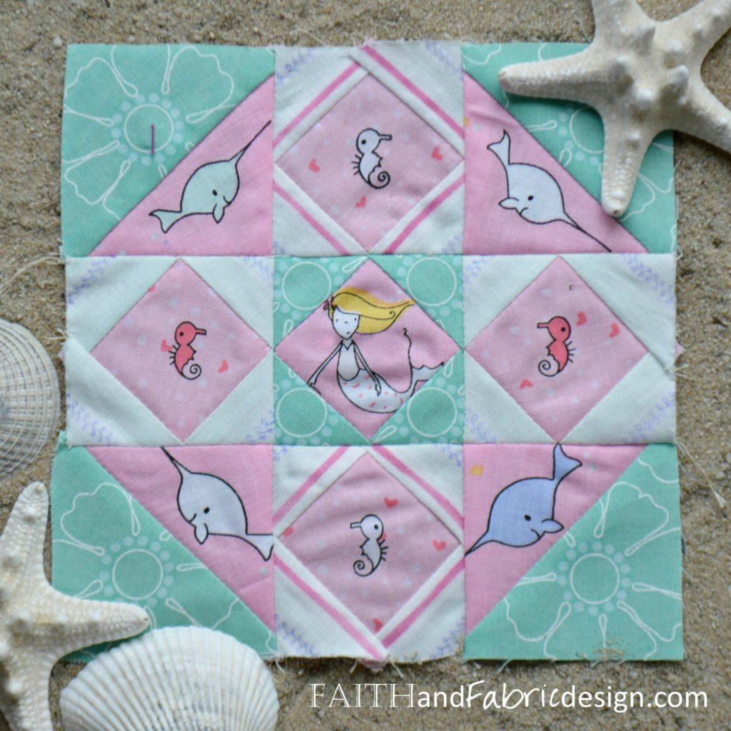 Under the Sea Farmer's Wife Block 76 by Faith and Fabric
