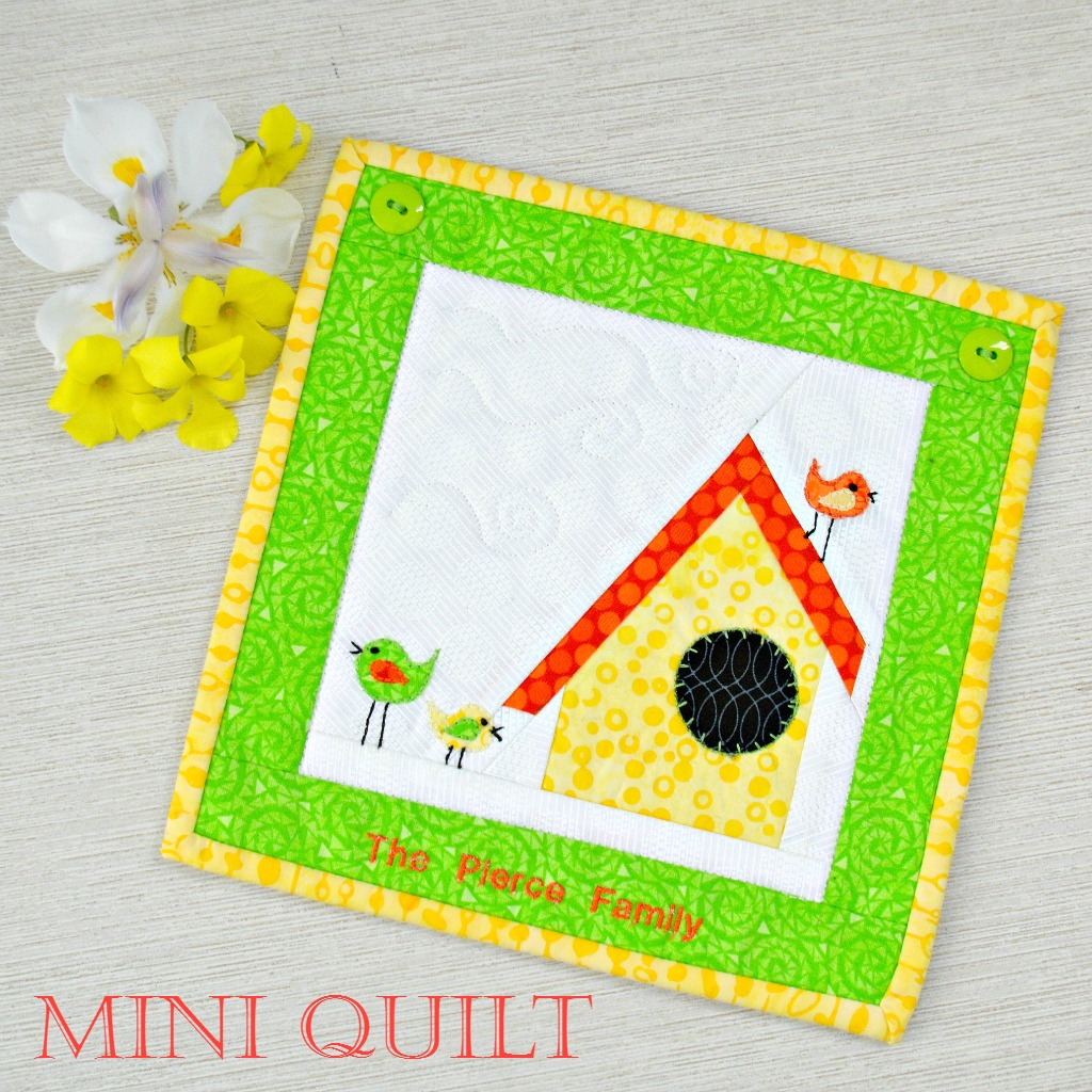 Mini Quilt: For the Birds