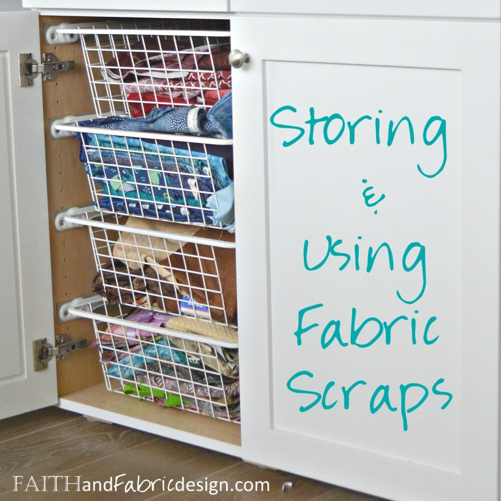 Fabric Scraps Storage Scrappy Quilt Block Faith And Fabric