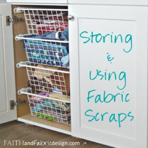 Fabric Scraps Storage & Scrappy Quilt Block