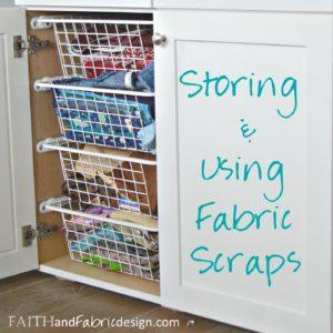 Fabric Scraps Storage & Scrappy Quilt Block