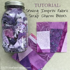 Tutorial: Sewing Improv Fabric Scrap Charm Blocks