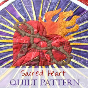 Pattern: Sacred Heart of Jesus Quilt Banner