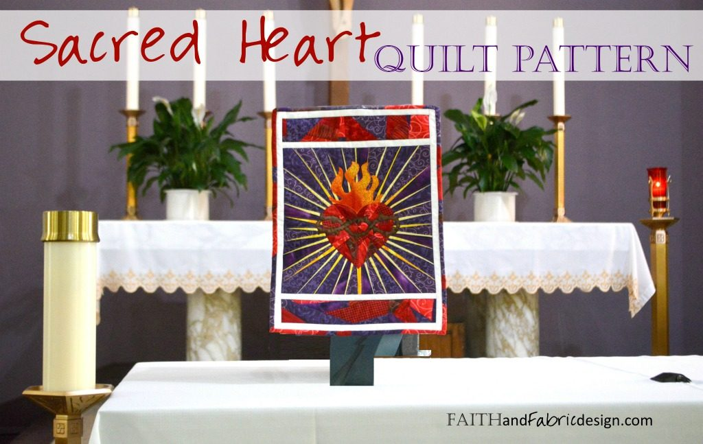 Sacred Heart of Jesus Quilt Pattern 1js