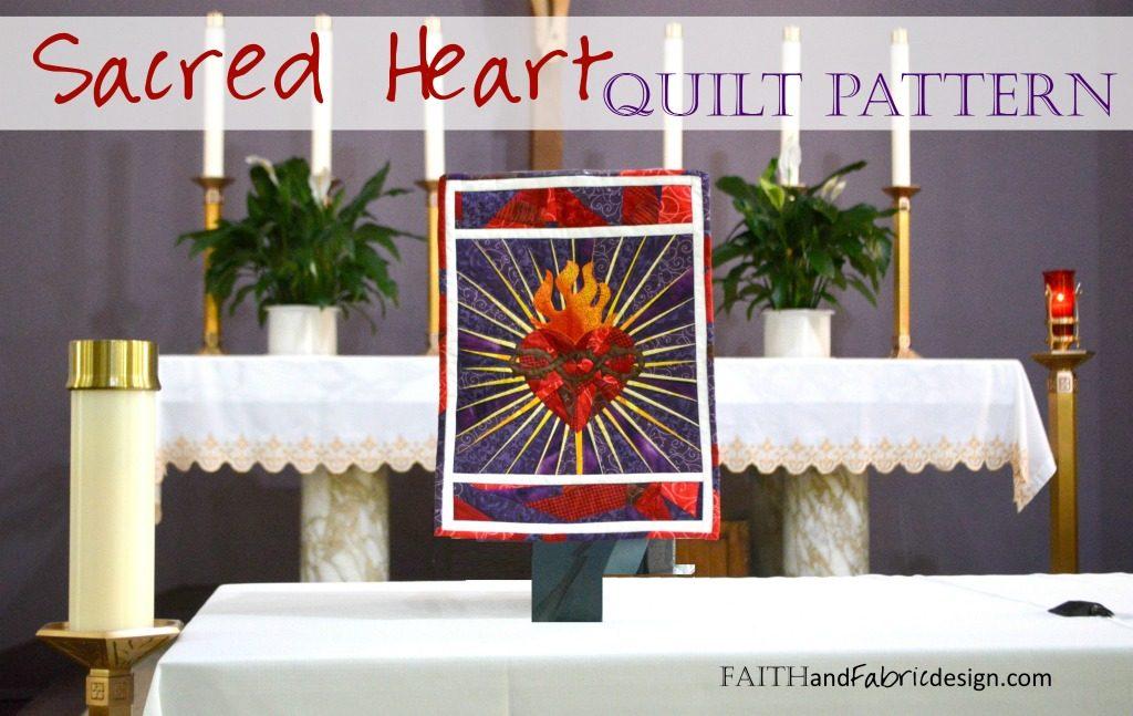 Sacred Heart of Jesus Quilt Pattern 1js