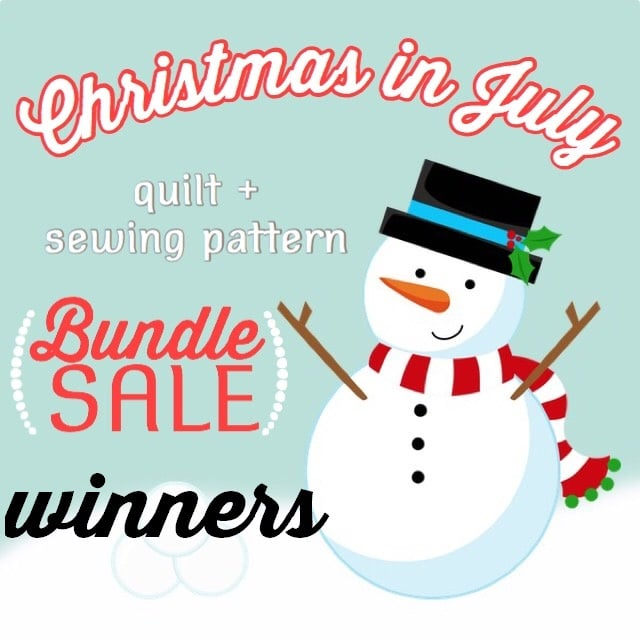 Christmas in July Bundle Winners!