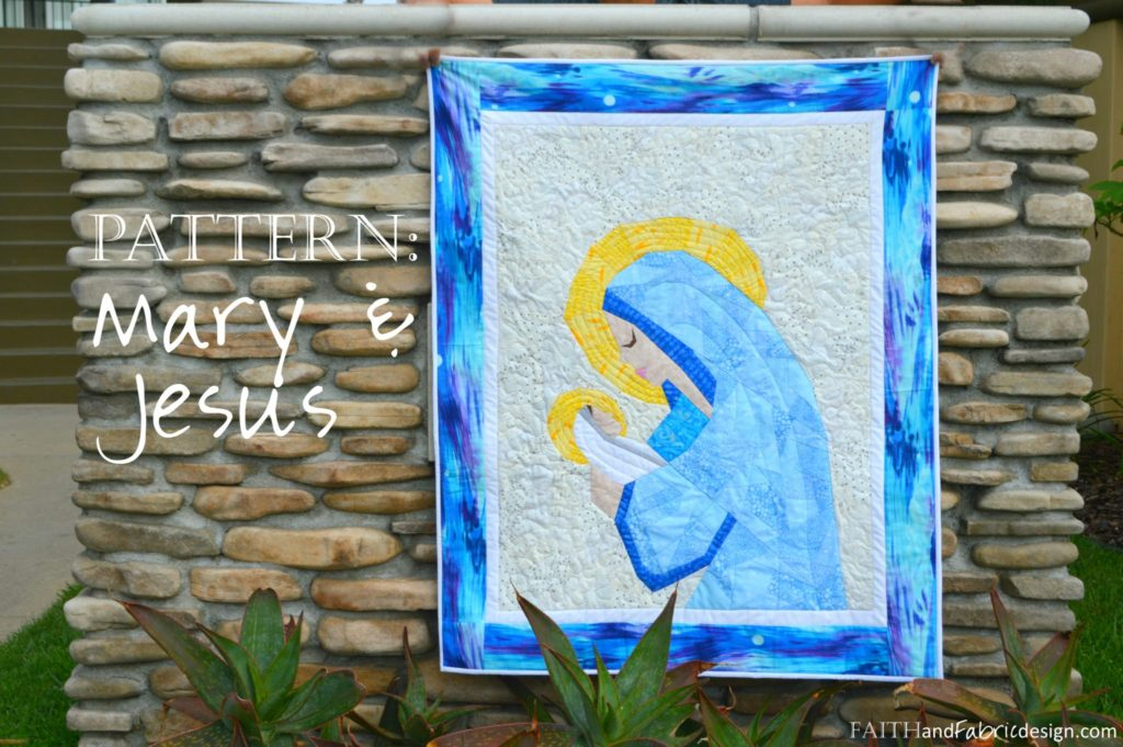 Mary Jesus Christian Quilt Pattern 1
