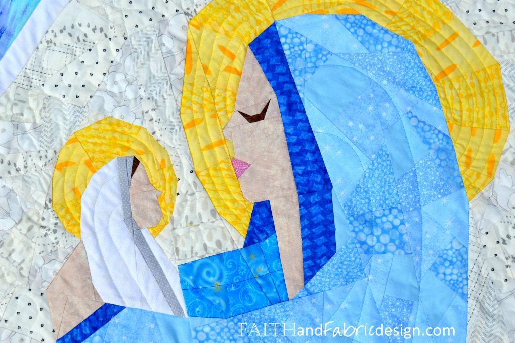 Mary Jesus Christian Quilt Pattern 3s
