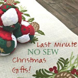 Creative (and Last Minute) Christmas Sewing Projects