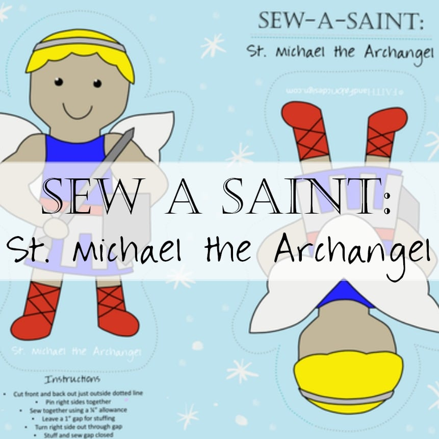 Fabric: St. Michael the Archangel Sew-a-Saint
