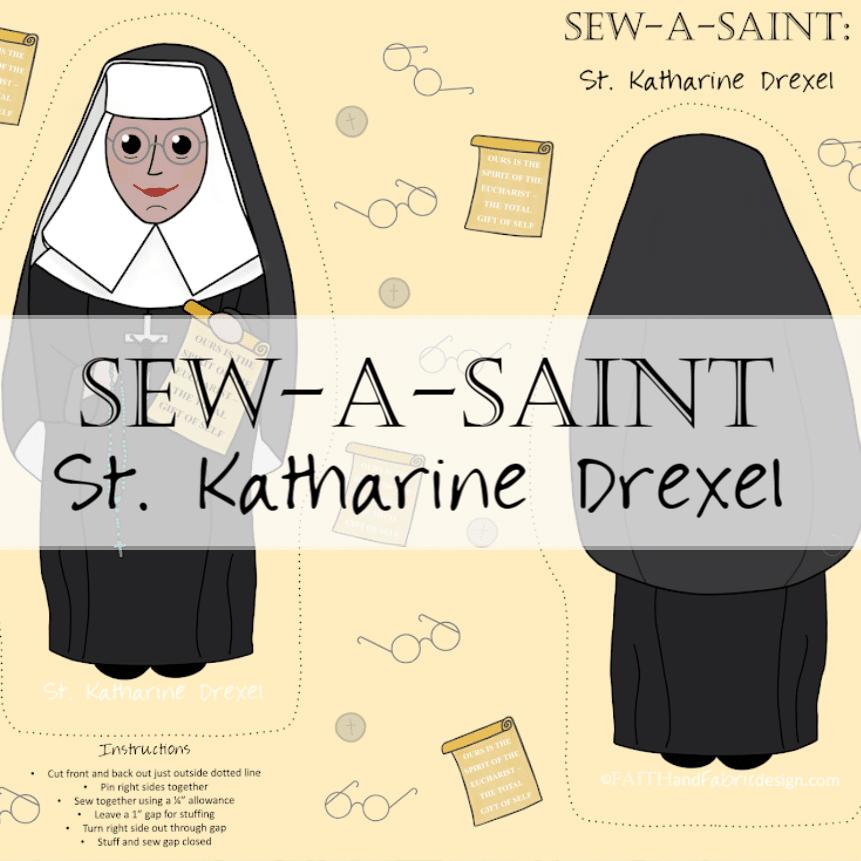 Fabric: St. Katharine Drexel Sew-a-Saint
