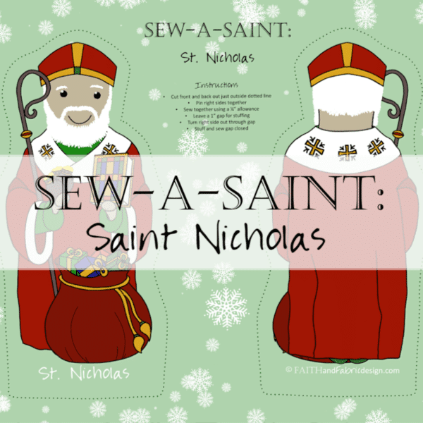 Fabric: St. Nicholas Sew-a-Saint