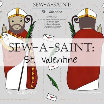 Sew-a-Saint: Saint Valentine