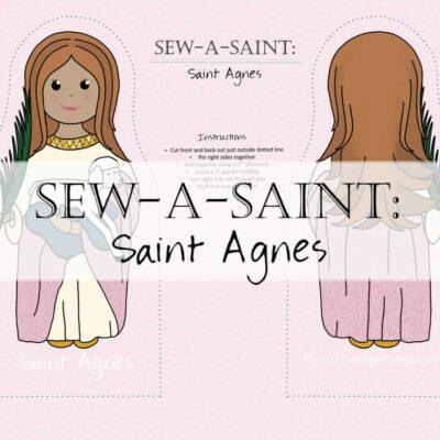 Sew-a-Saint: St. Agnes