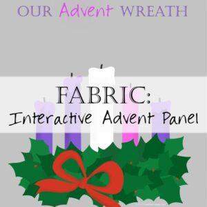 Advent Wreath Panel Fabric Catholic
