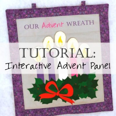 Tutorial: Sew an Interactive Fabric Advent Wreath