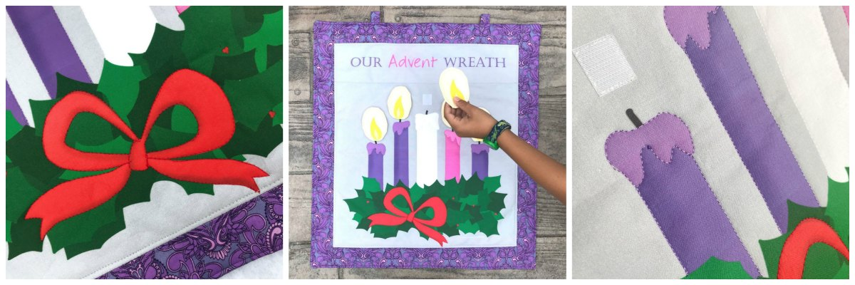 Sew an Interactive Fabric Wreath Panel with this fabric!