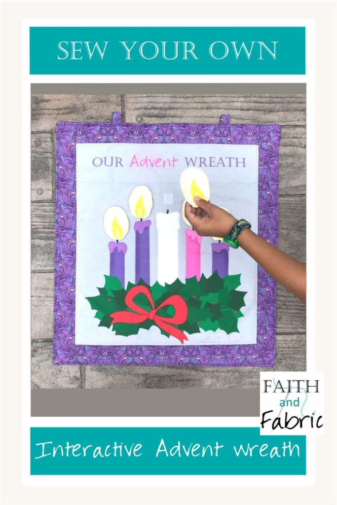 Sew Advent Wreath Fabric Panel