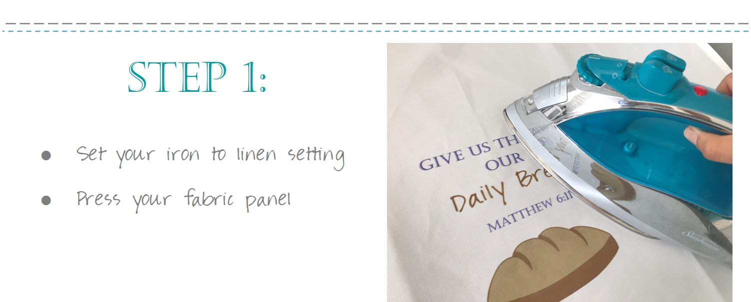 Christian Give Us This Day Our Daily Bread Bag Fabric Panel DIY Tutorial Instructions