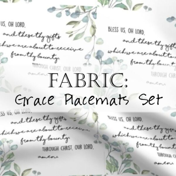 Grace Placemats Fabric Christian Header
