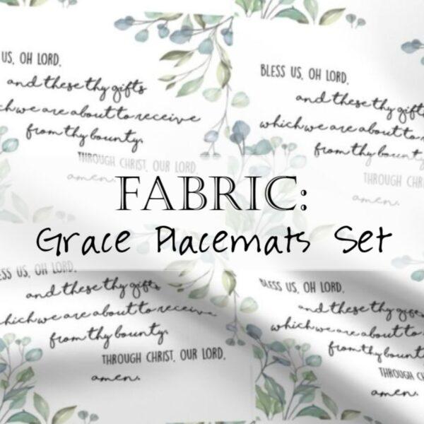 Grace Placemats Fabric Christian Header