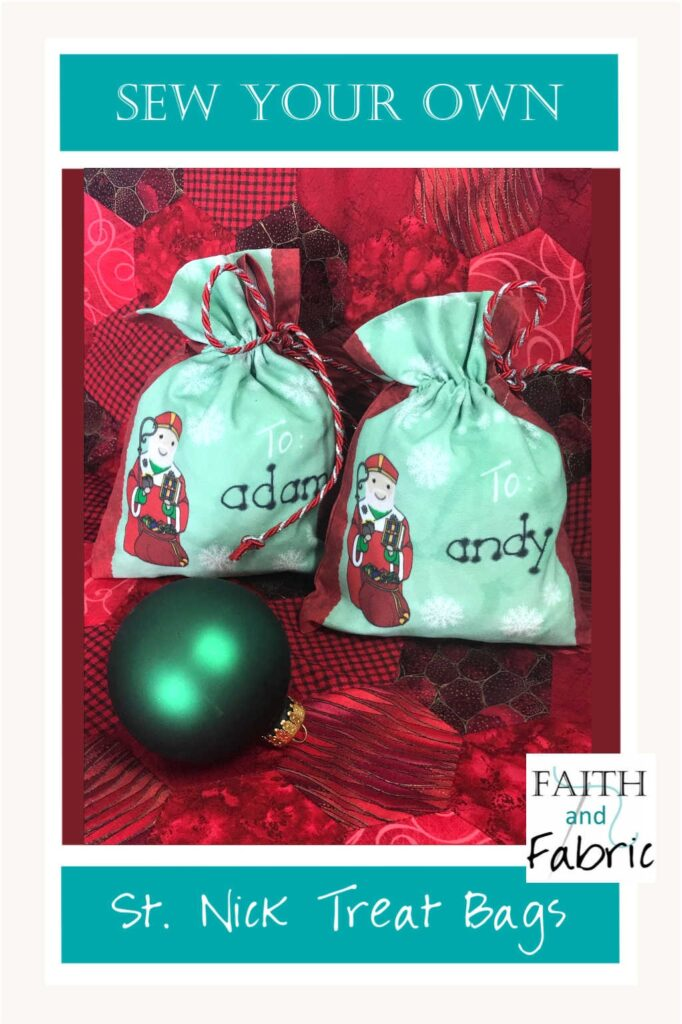 Sew an adorable set of St. Nicholas treat bags, perfect for your child's shoe on St. Nick's feast day!