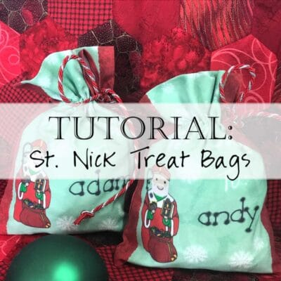 Tutorial: Sew St. Nick Treat Bags / Saint Nicholas Gift Bags DIY