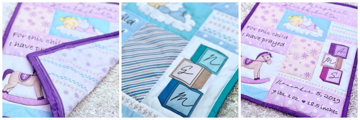 Create a beautiful baby blanket quilt with this DIY kit!