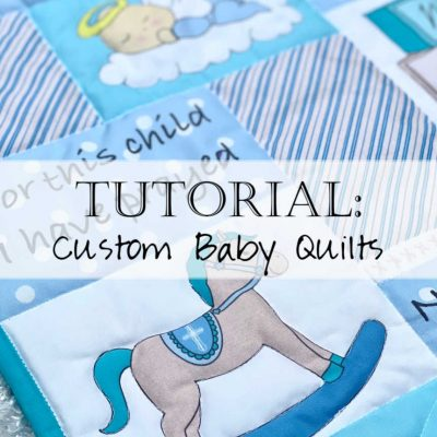 Tutorial: Sew a Custom Baby Blanket Quilt (kit)