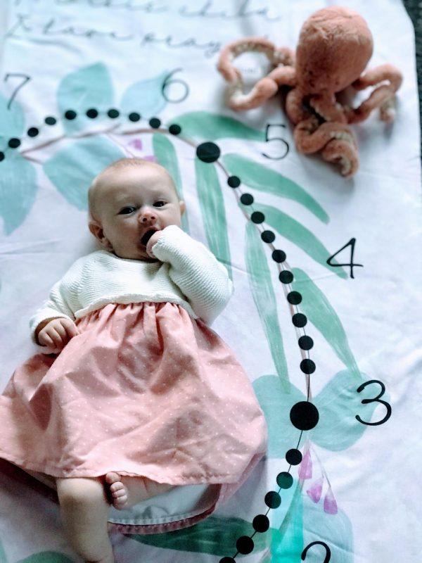 Catholic Rosary Milestone Baby Blanket