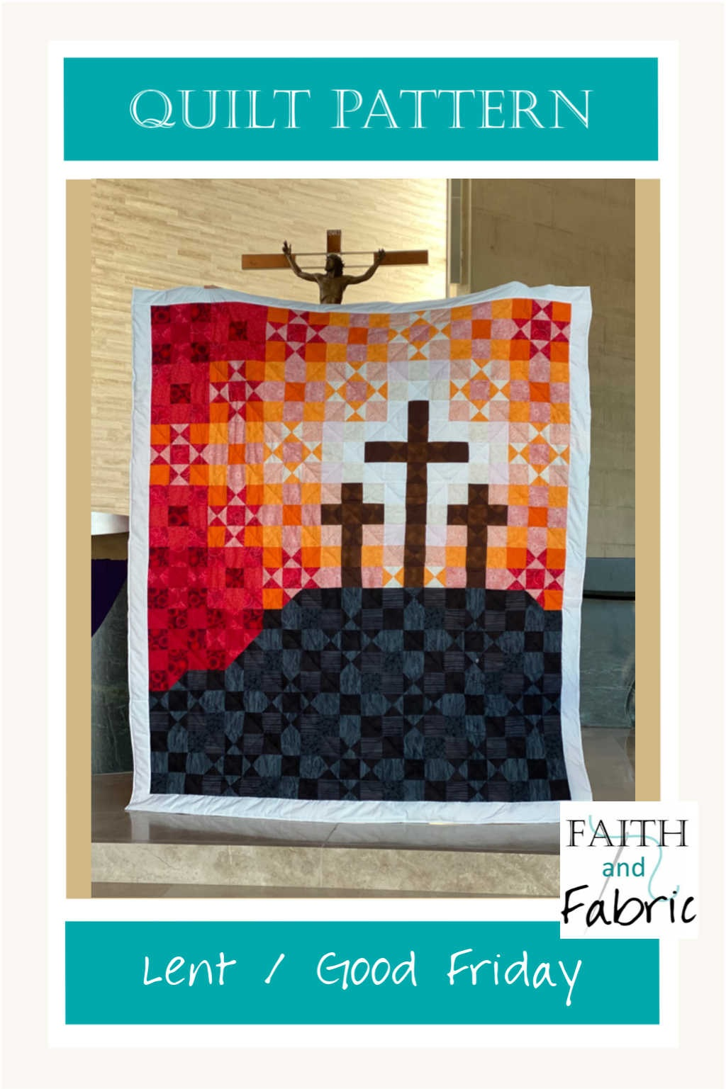 This beautiful Lent Quilt Pattern celebrates both the darkness and hope on that fateful Friday.