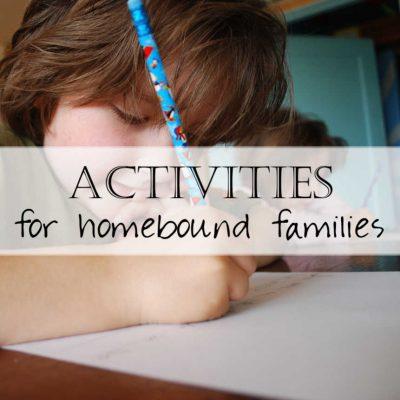 Homeschool Activities for Families during Coronavirus