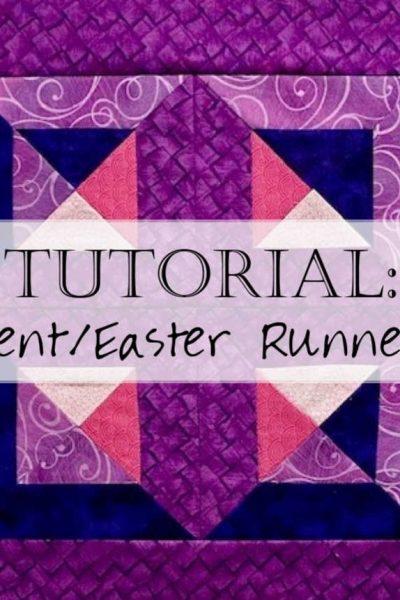 Lent Table Runner Quilt Reversible Pattern Header Tutorial