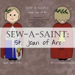 St. Joan of Arc Sew-a-Saint Fabric 1