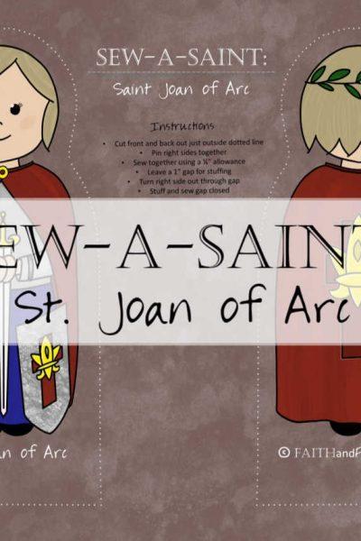 St. Joan of Arc Sew-a-Saint Fabric 1