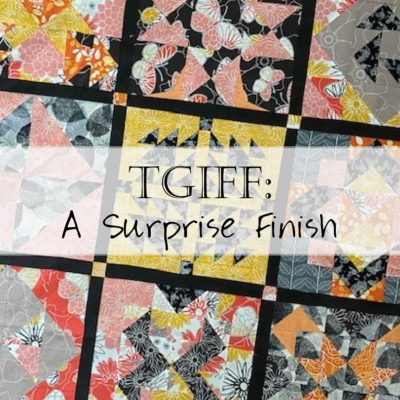 TGIFF: The Emperor's Garden (and Finishing the Quilter's Planner 2017 Quilt Along)