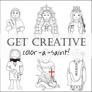 Color a Saint Coloring Book by Faith and Fabric Header