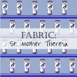 Saint Mother Theresa of Calcutta Fabric Header