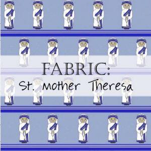 Saint Mother Theresa of Calcutta Fabric Header