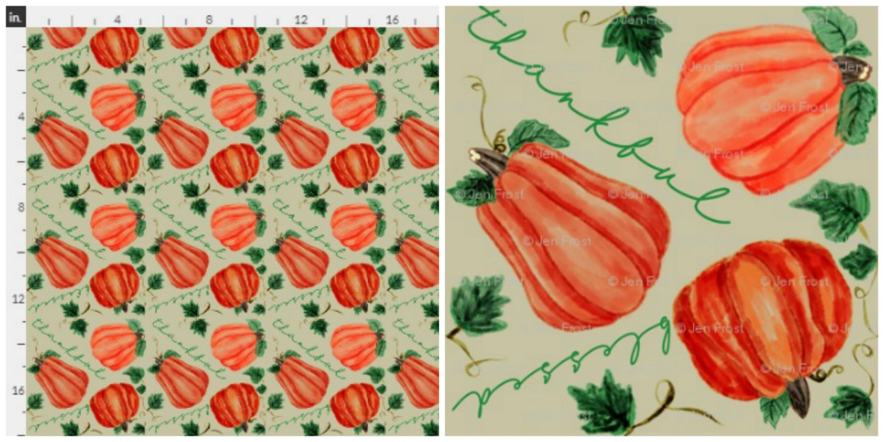 Pumpkin Thankful Blessed Fall Fabric Collage