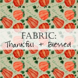 Pumpkin Thankful Blessed Fall Fabric Header