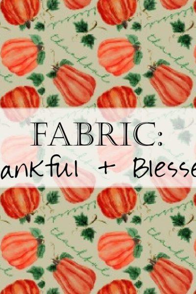 Pumpkin Thankful Blessed Fall Fabric Header