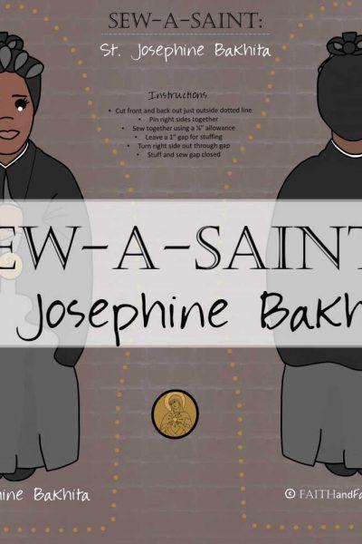 Saint Josephine Bakhita Sew a Saint