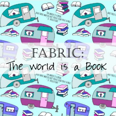 Fabric: The World is a Book, Travel Fabric with Saint Augustine