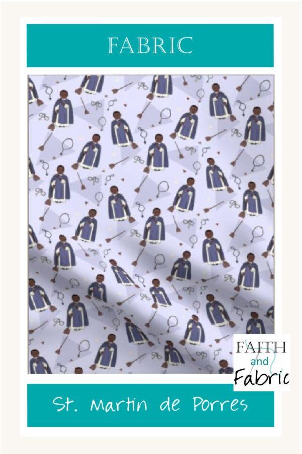 Saint Martin de Porres Fabric Vertical 2