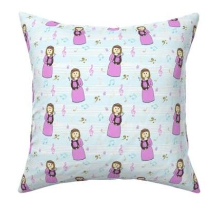 Saint Cecilia Fabric Yardage Pillow