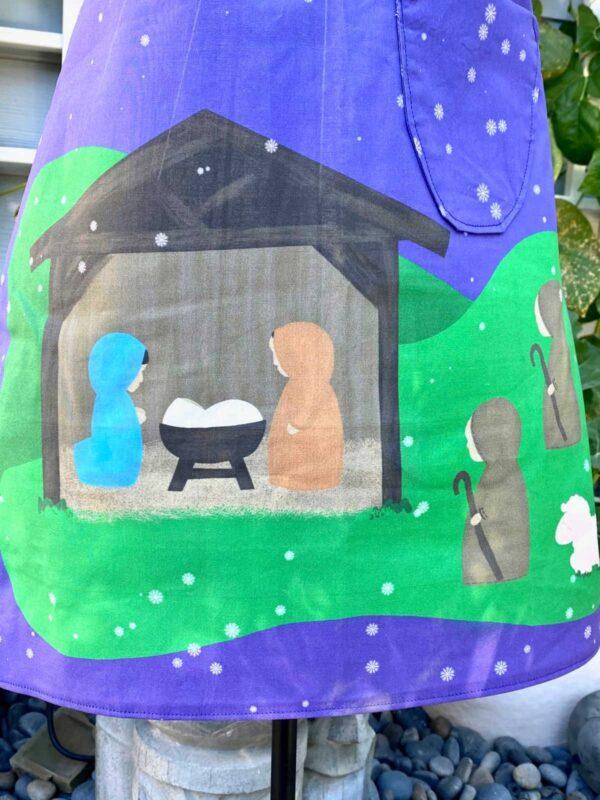 Christian Christmas Nativity Apron 2