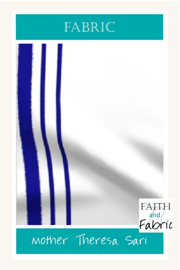 Fabric St Mother Theresa Blue Stripes Yardage Pinterest